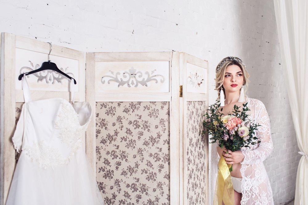image Les sous-vêtements de la mariée